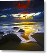 Sun Is Setting Metal Print