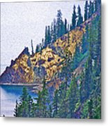 Sun Notch On A Rainy Day At Crater Lake National Park-oregon Metal Print