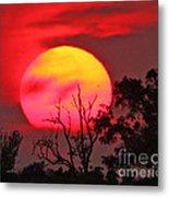 Louisiana Sunset On Fire Metal Print