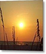 Sun Over The Ocean Metal Print