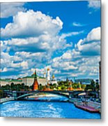 Sun Over The Old Cathedrals Of Moscow Kremlin Metal Print