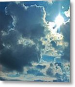 Sun Peeping Out Metal Print