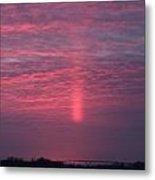 Sun Pillar Horizontal Metal Print