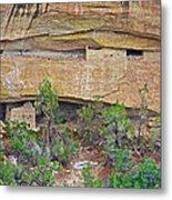 Sun Point Pueblo View-12-1300 Ad  On Chapin Mesa Top Loop Road In Mesa Verde National Park-colorado  Metal Print