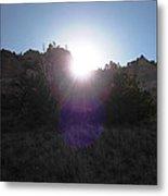 Sun Sets At Tent Rocks Metal Print