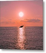 Sun Setting On Atlantus Metal Print