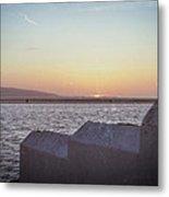 Sun Setting Over Wales Metal Print