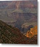 Sun Shining On The Canyons Metal Print