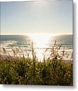 Sun Star At The Beach Metal Print