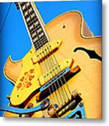 Sun Studio Guitar Metal Print