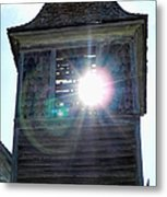 Sun Through The Steeple-by Cathy Anderson Metal Print