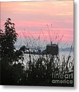 Sun To Rise On The Chesapeake Bay Metal Print