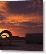 Sun Tunnel Sunset Metal Print