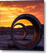Sun Tunnels Metal Print by Peter Irwindale