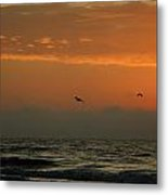 Sun Up With Birds Metal Print