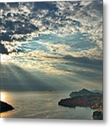 Sunbeams On Dubrovnik Metal Print