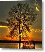 Sunblock A Sunset On Lake Oconee Metal Print