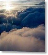 Sunburst Above The Clouds Metal Print