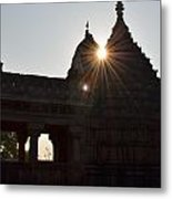 Sunburst At The Temple Of The 64 Yoginis Metal Print