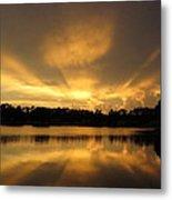 Sunburst Reflection Metal Print