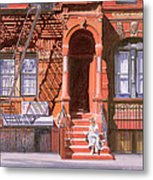 Sunday Afternoon East 7th Street Lower East Side Nyc Metal Print