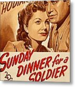 Sunday Dinner For A Soldier, Us Poster Metal Print