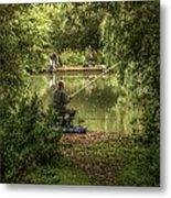Sunday Fishing At The Lake Metal Print
