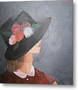 Sunday Hat Metal Print by Glenda Barrett