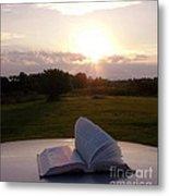 Sunday Sunrise Bible Study Metal Print