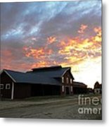Fire In The Sky Sunday Metal Print