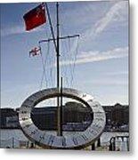 Sundial St Katherines Dock Metal Print