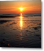 Sundown At The North Sea Metal Print