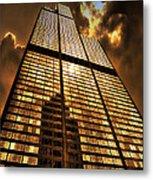 Sundown At Willis Sears Tower Metal Print