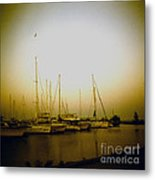 Sundown By The Lake Metal Print