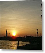 Sundown In Venice Metal Print