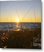Sundown Jogging Metal Print