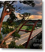 Sundown On Pennybacker 360 Metal Print