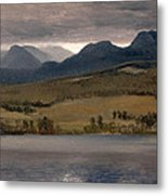 Sundown On The Lake.thought To Be Lake Tahoe Metal Print
