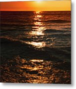 Sundown Reflections On Lake Michigan  01 Metal Print