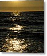 Sundown Reflections On The Waves Metal Print