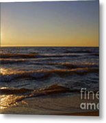 Sundown Scintillate On The Waves Metal Print