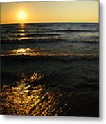 Sundown Shimmer Metal Print