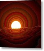 Sunfall Behind The Mountains Metal Print