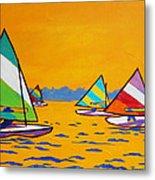 Sunfish Sailboat Race Metal Print