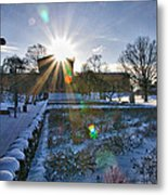 Sunflare At The Back Metal Print
