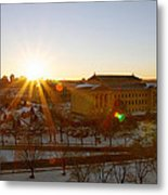 Sunflare At The Museum Metal Print