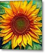 Sunflower - Paint Edition Metal Print