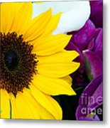Sunflower And Company Metal Print