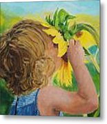 Sunflower Annie Metal Print