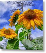 Sunflower Art Metal Print by George Paris
